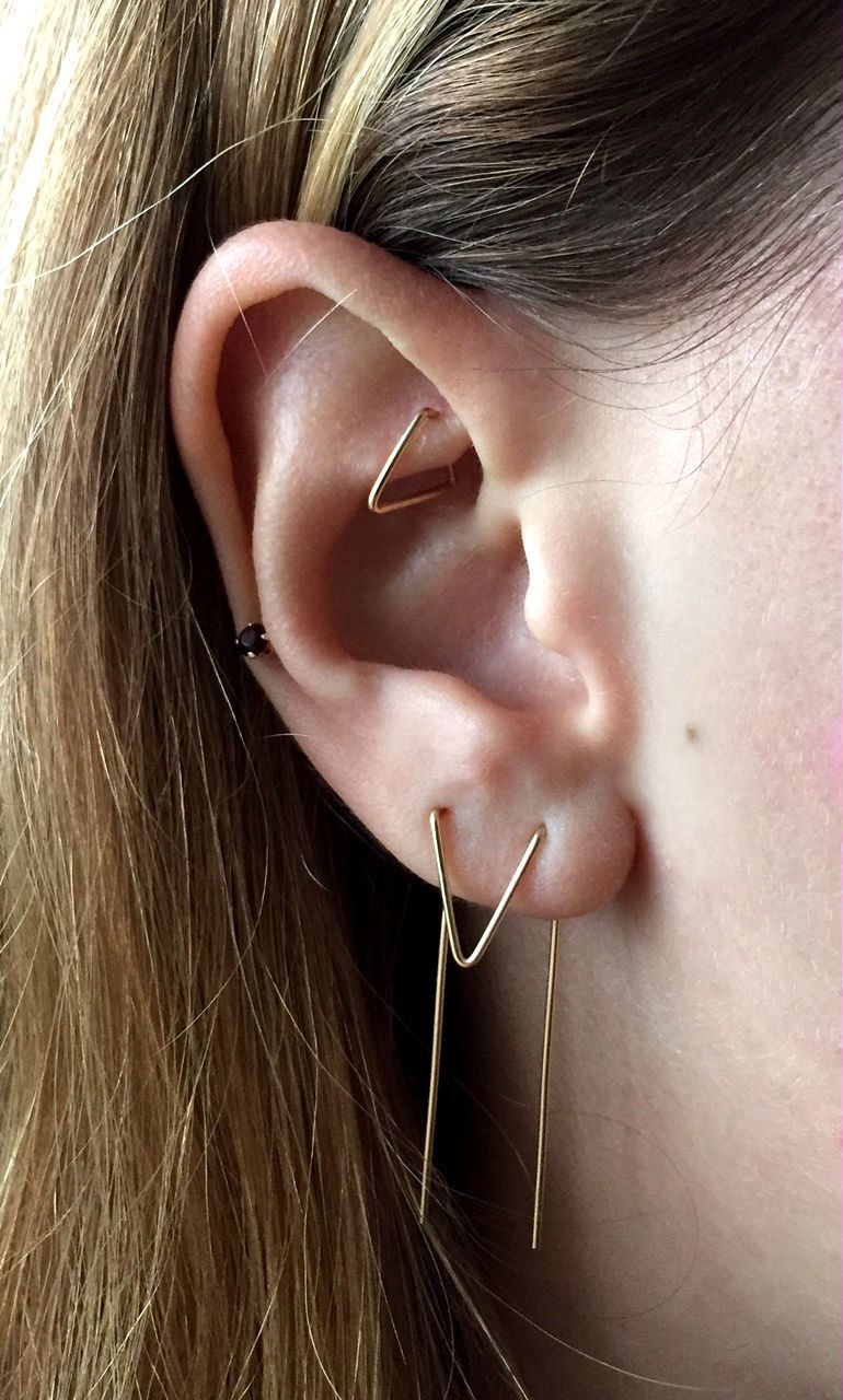 triangle rook piercing